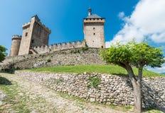Chateau de Foix castle , France royalty free stock photo