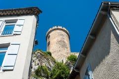 Chateau de Foix castle , France stock image