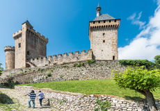 Chateau de Foix castle , France Royalty Free Stock Photography