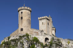 Chateau de Foix on its Rocky Summit royalty free stock photos