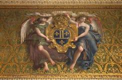 Chateau de Fontainebleau, France, interiors details Stock Images