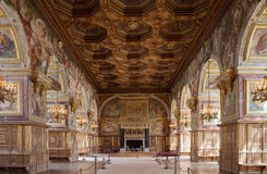 Chateau de Fontainebleau, France, interiors details Stock Image