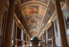 Chateau de Fontainebleau, France, interiors details Royalty Free Stock Images