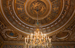 Chateau de Fontainebleau, France, interiors details Royalty Free Stock Photography