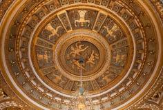 Chateau de Fontainebleau, France, interiors details Stock Photography