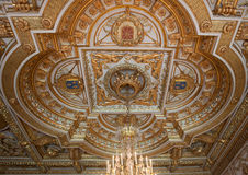 Chateau de Fontainebleau, France, interiors details Royalty Free Stock Photo