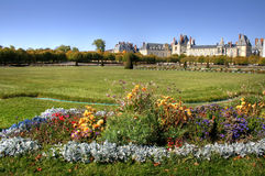 Chateau de Fontainebleau , France. View of the Chateau de Fontainebleau and its huge park, situated close to Paris it introduced the Mannerist style of stock images