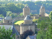 Chateau de Fougeres ( France ) Stock Photography