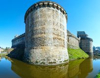 The Chateau de Fougeres (France) spring view. Royalty Free Stock Photos