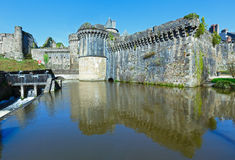 The Chateau de Fougeres (France) spring view. Royalty Free Stock Photo