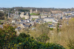 The Chateau de Fougeres (France) spring view. Stock Photography
