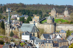 The Chateau de Fougeres (France) spring view. Stock Photos