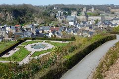 The Chateau de Fougeres (France) spring view. Royalty Free Stock Images