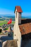 Chateau de Gruyeres Immagini Stock Libere da Diritti