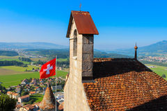 Chateau de Gruyeres Image stock