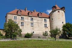 Chateau de Gruyeres, die Schweiz stockbilder