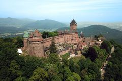Chateau de Haut-Koenigsbourg, Frankreich Stockbild