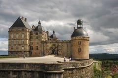Chateau de Hautefort, Frankreich Lizenzfreies Stockfoto