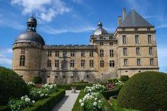 Chateau de Hautefort, Frankreich Stockbilder