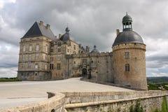 Chateau de Hautefort, Frankreich Stockfotografie