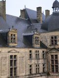 Chateau DE Hautefort, Perigord (Frankrijk) Stock Afbeelding