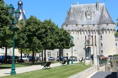 Chateau de Jonzac.  ( France ) Stock Photos