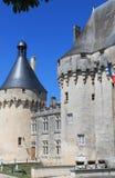 Chateau de Jonzac. ( France ) stock image