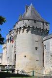 Chateau de Jonzac. ( France ) stock images