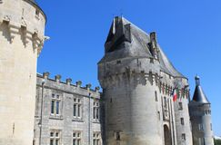 Chateau de Jonzac. ( France ) royalty free stock photography