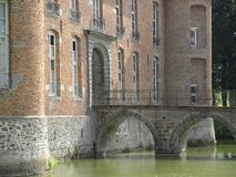 Chateau de l`estriverie, a castle in hainaut, belgium royalty free stock photo