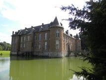 Chateau de l`estriverie, a castle in hainaut, belgium royalty free stock image