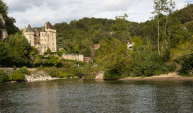 Chateau de La Malartrie on the Dordogne Royalty Free Stock Image