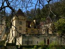 Chateau DE La Malartrie, La roque-Gageac (Frankrijk) Royalty-vrije Stock Foto's