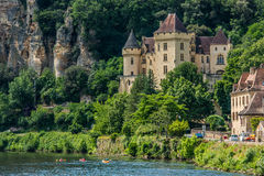 Chateau DE La mallantrie La roque gageac Frankrijk Royalty-vrije Stock Fotografie