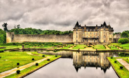 Chateau de la Roche Courbon in Charente-Maritime department of F. Rance Stock Image