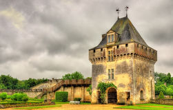 Chateau de la Roche Courbon in Charente-Maritime. Department of France royalty free stock photo
