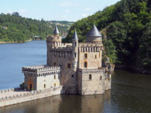 Chateau de La Roche, sacerdote La Roche, Francia del san Fotografia Stock Libera da Diritti