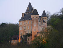 Chateau de la Roque, Meyrals (France ) Stock Images