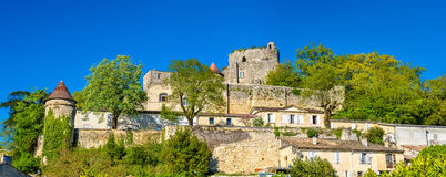 Chateau de Langoiran, a medieval castle in Gironde, France Royalty Free Stock Photo