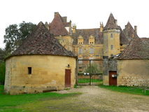Chateau de Lanquais ( France ) Royalty Free Stock Image