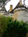 Chateau de Lanquais (Frances) Photographie stock