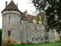 Chateau DE Lanquais (Frankrijk) Royalty-vrije Stock Foto's