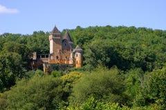 Chateau de Laussel en Dordogne, Aquitaine, Francia Imagenes de archivo