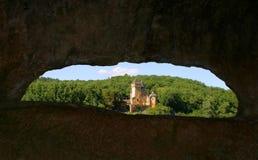 Chateau de Laussel en Dordogne, Aquitaine, Francia Fotos de archivo