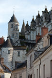 Chateau de Loches in Loire Valle Stock Images