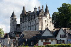 Chateau de Loches in Loire Valle stock image
