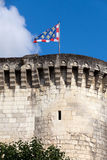 Chateau de Loches in Loire Valley royalty free stock photography