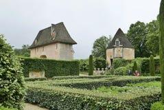 Chateau de Losse på Thonac i Dordognen royaltyfria foton