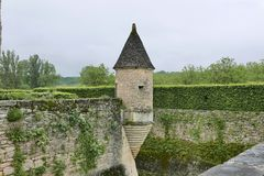 Chateau de Losse på Thonac i Dordognen arkivfoton