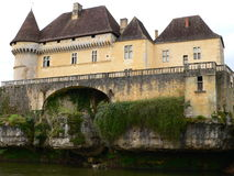 Chateau de Losse, Thonac ( France ). Losse Castle by the river Vézère, in Dordogne ( France Royalty Free Stock Photography